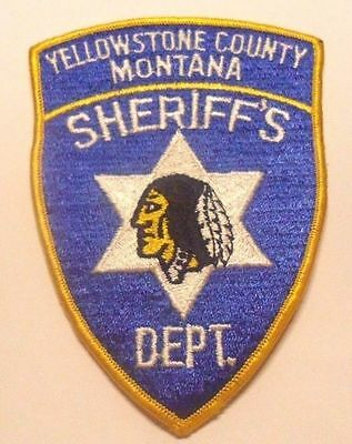 Yellowstone County Montana Sheriff Shoulder Patch
