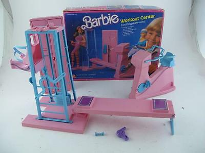 Vintage 1984 Barbie Workout Center Gym Equipment Playset in Original Box