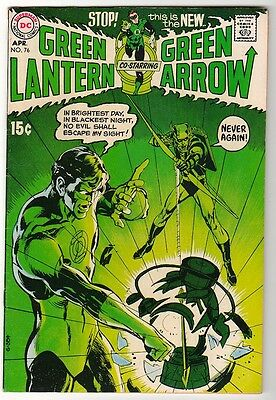 DC Comics GREEN LANTERN 1st NEIL ADAMS Bronze age #76 1970 ARROW VFN-