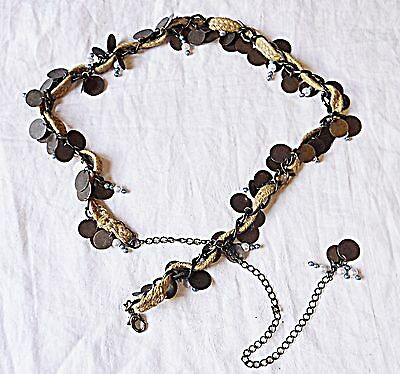 'vintage' Belly Belt Chain Rings Rope Coins Beads Etnic Dancing Hippy Festival
