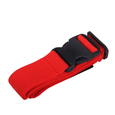 Red Adjustable Luggage Suitcase Travel Case Baggage Bag Belt Trolley Strap