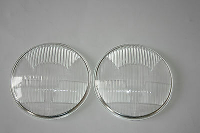 For Vw Karmann Ghia Typ 14 Typ34 Set Hella Headlight Lenses Symmetric 71554 New