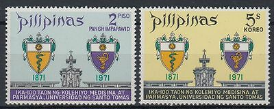 Philippinen 1971 ** Mi.972/73 Chirurgie Surgery Pharmazie Pharmacy [st1627]