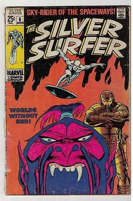 MARVEL Comics SILVER SURFER  #6 1968  Fantastic four  VG- 3.5