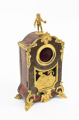 Antique French Ebonised Red Boulle  & Ormolu Watch Stand C1880