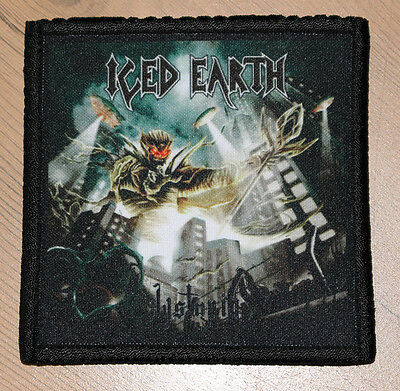 """ICED EARTH """"DYSTOPIA"""" silk screen PATCH"""