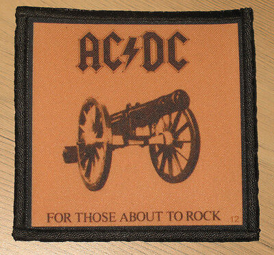 "AC/DC ""FOR THOSE ABOUT TO ROCK"" silk screen PATCH"