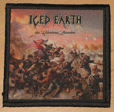 """ICED EARTH """"THE GLORIOUS BURDEN"""" silk screen PATCH"""