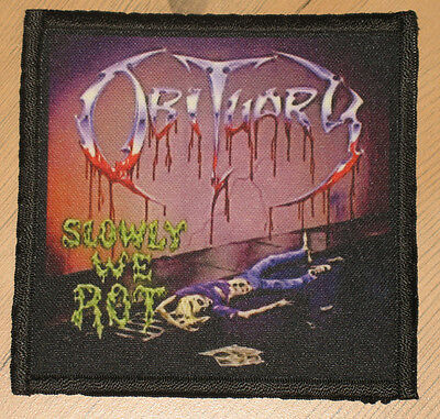 "OBITUARY ""SLOWLY WE ROT"" silk screen PATCH"