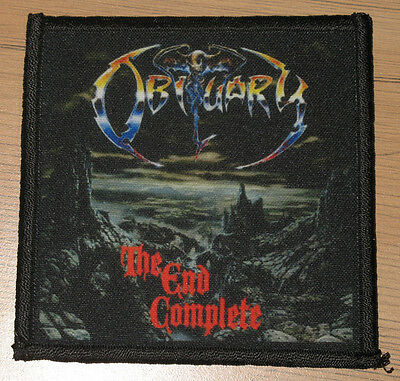 "OBITUARY ""THE END COMPLETE"" silk screen PATCH"