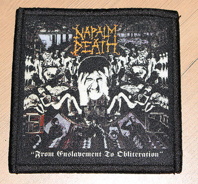 """NAPALM DEATH """"FROM ENSLAVEMENT TO OBLITERATION"""" silk screen PATCH"""