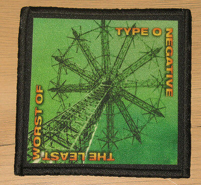 """TYPE O NEGATIVE """"THE LEAST WORST OF"""" silk screen PATCH"""