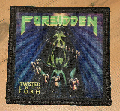 "FORBIDDEN ""TWISTED INTO FORM"" silk screen PATCH"