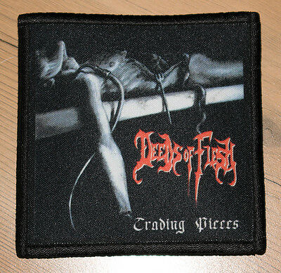 """DEEDS OF FLESH """"TRADING PIECES"""" silk screen PATCH"""