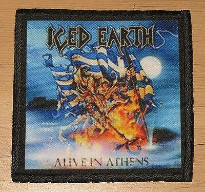 """ICED EARTH """"ALIVE IN ATHENS"""" silk screen PATCH"""