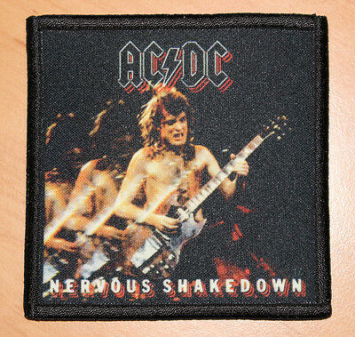 "AC/DC ""NERVOUS SHAKEDOWN"" silk screen PATCH"