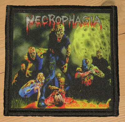 "NECROPHAGIA ""SEASON OF THE DEAD"" silk screen PATCH"