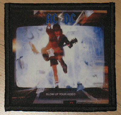 """AC/DC """"BLOW UP YOUR VIDEO"""" silk screen PATCH"""