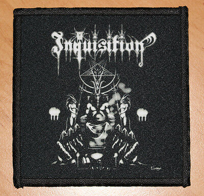 """INQUISITION """"INVOKING THE MAJESTIC THRONE OF SATAN"""" silk screen PATCH"""