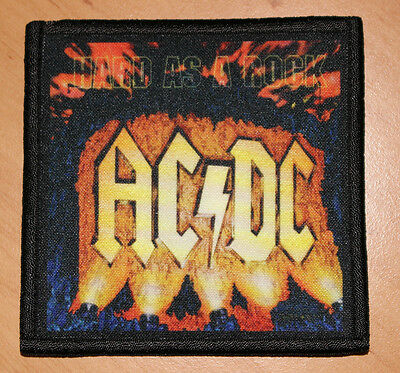 "AC/DC ""HARD AS A ROCK"" silk screen PATCH"