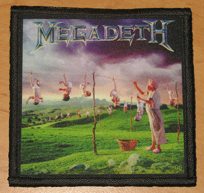 """MEGADETH """"YOUTHANASIA"""" silk screen PATCH"""