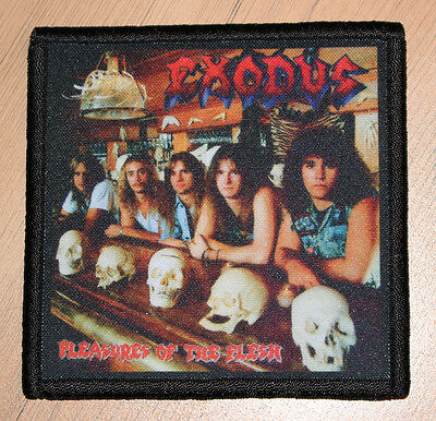 "EXODUS ""PLEASURES OF THE FLESH"" silk screen PATCH"
