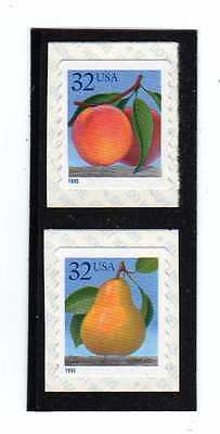 #2495-2495a PEACH & PEAR COIL SINGLES (tough to find) MNH