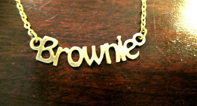 BROWNIE Girl Scout Necklace 1970s Vintage GIFT Leader Multi=1 Ship Chrg Nice