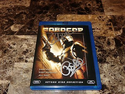 Robocop RARE Peter Weller SIGNED Blu-Ray Disc Film Movie Sci-Fi Detroit + Ticket