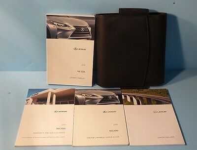 15 2015 Lexus NX200t owners manual