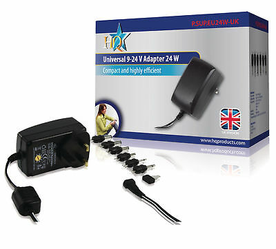 9 To 24V Ac/dc Power Supply Adapter Charger Psu For Uk Plug 6 Tips Switchable
