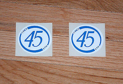 """Seeburg  7"""" Inch 45 RPM Mech Decal Blue and White"""