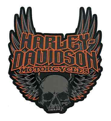 3Xl Harley Davidson Gothic Wings Skull Vest Jacket Patch