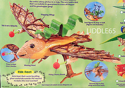 "17"" Wingspan 1998 Battle Bird A Bugs Life Action Figure Playset Mattel Pixar NIB"