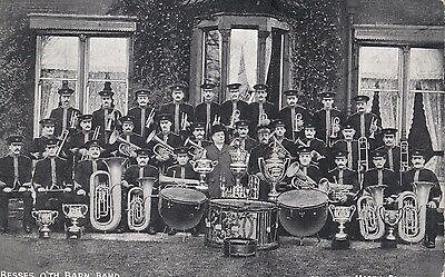 Stamp 1908 England 1/2d postcard The Besses o'th'Barn Band Victoria postage due