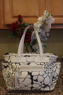 Kate Spade Women's Ivory /Grey Floral Diaper Tote Bag #PXRU1615 (pu150
