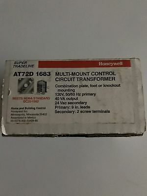 New Honeywell At72D 1683 Multimount Control Transformer 120V To 24 Vac