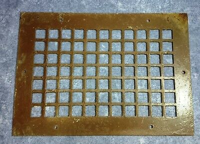 "Antique Cast Iron Heating Grate for Floor Vent - Brown - 10"" x 14"""