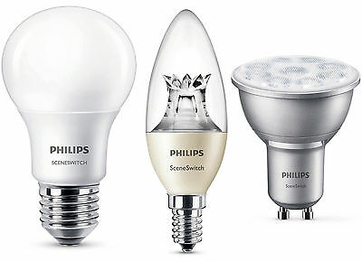 PHILIPS LED Lampe SceneSwitch Dimmen ohne Dimmer Birne Leuchte dimmbar Dimmung