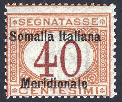 Somalia 1906 40c Buff & Magenta Post Due Scott J5 SG D21 VLMM/MVLH Cat $350
