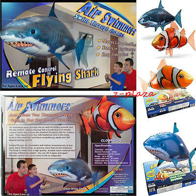 Air Swimmer Remote Control RC Flying Inflatable Fish Shark Blimp Balloon FUN TOY
