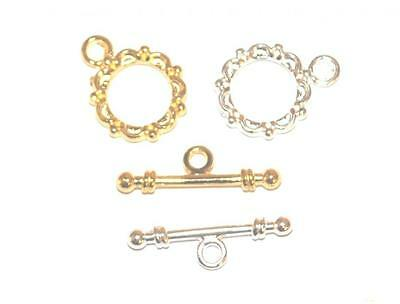 Quality Silver / Gold Toggle Clasps Jewellery Necklace Craft Findings - Tc942