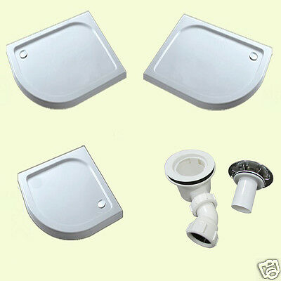 Quadrant stone tray for shower enclosure glass door free waste Great Value A6