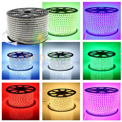 20m 30m 50m 100m 220V IP68 5050 SMD LED Flexible Rouleau Ruban Strip Xmas Lampe