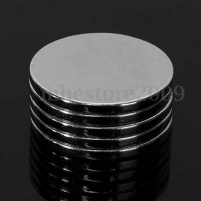 50Pcs 20 x 2mm Round Disc Rare Earth Neodymium Super Strong Fridge Magnets N50