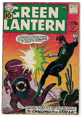 DC Comics GREEN LANTERN Issue 8 The Challenge From 5700 A.D.! VG