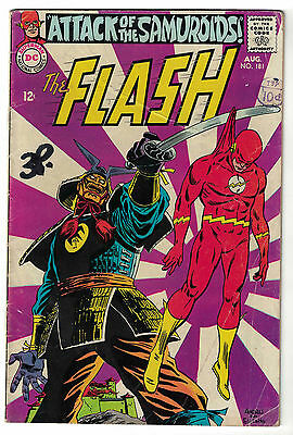 DC Comics THE FLASH Issue 181 Attack Of The Samuroids! VG