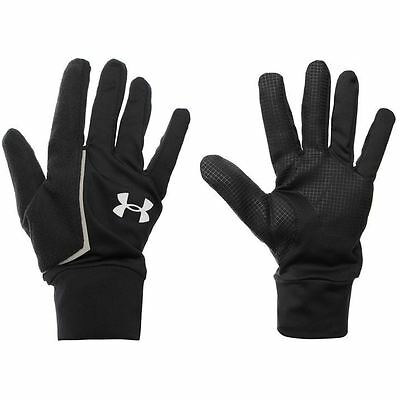 Under Armour Mens No Breaks Run Liner Gloves Hands Protection Training Sports