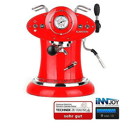 Machine A Cafe Expresso Klarstein Cafetiere Automatique Pompe 15 Bar 1160W Rouge