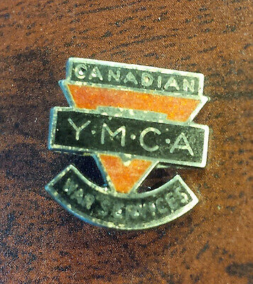 Canadian YMCA War Services Pin in Sterling Silver